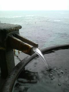 絶景!海温泉で…
