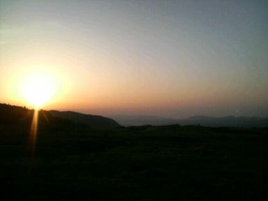 久住高原の朝