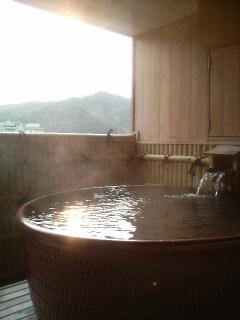 湯村温泉の朝
