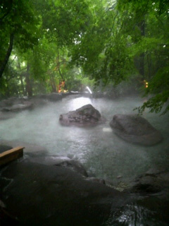 由布院温泉・二本の葦束