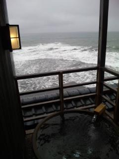 海温泉の朝