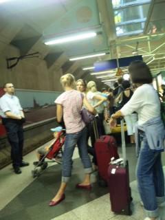 ミュンヘンに到着、地下鉄に乗ります