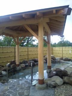 ハイルザーム栗駒に新露天風呂が完成