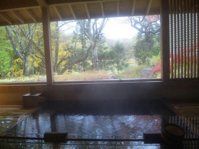 温泉と沼と紅葉と