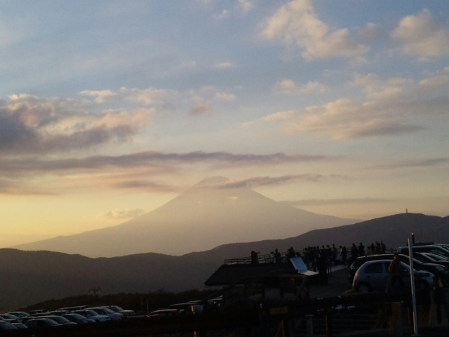 ビューティフル♪夕映えの富士山