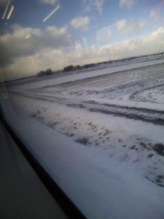 雪景色の陸羽東線