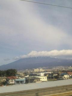 兎と白龍が富士山に