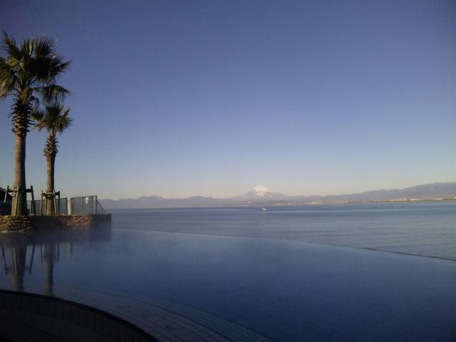 露天風呂+大海原+富士山〜の絶景