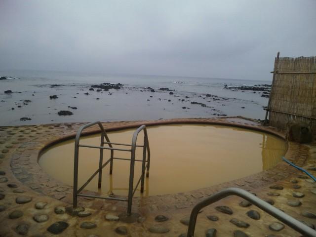 やっと、入れたぁ〜♪海の露天風呂@不老ふ死温泉