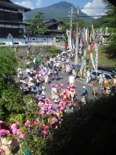 別所温泉、厳かで美しいお祭り・岳の幟@柏屋別荘