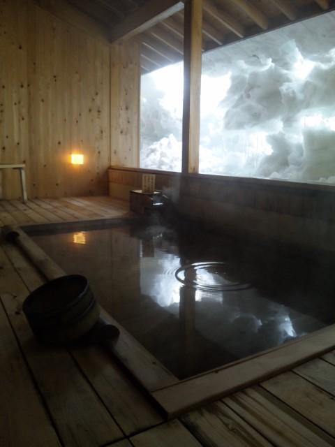 雪見の露天風呂〜♪