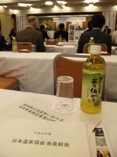 日本温泉協会会員総会に出席。