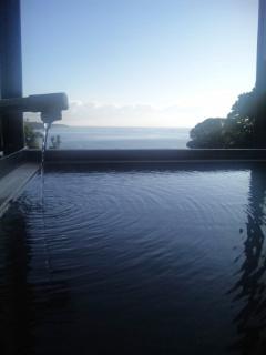 温泉から海と空