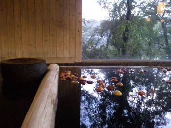 りんご&つるつる温泉〜♪